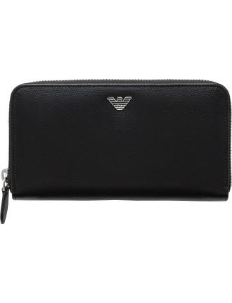 New Fast Zip Around Vertical Coat Wallet