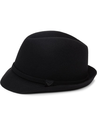 Wool Felt Trilby W/ Self Band