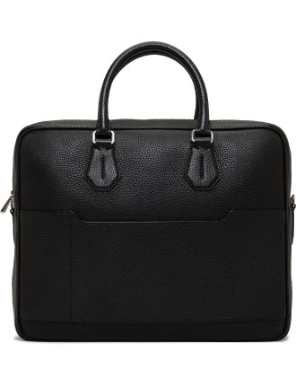 City Pebbled Leather Medium Briefcase