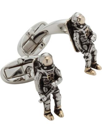 3d Space Man Cufflinks