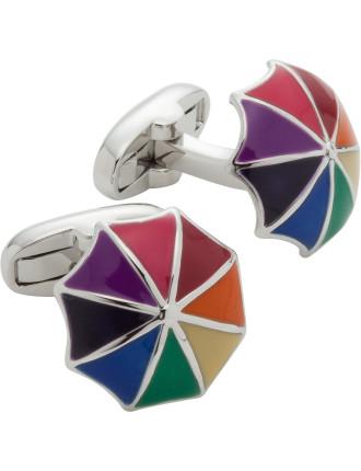 3d Rainbow Umbrella Cufflink