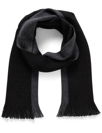 Albas_D Double Faced Wool Two Tone Knitted Scarf