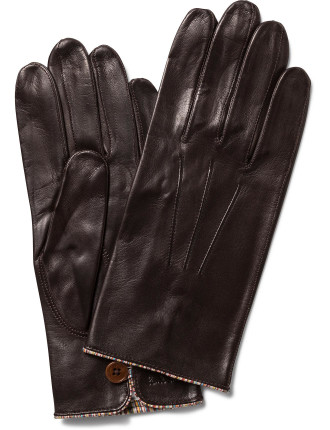 Multistripe Piping Unlined Leather Gloves