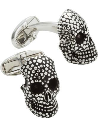 3d Dotted Skull Cufflink