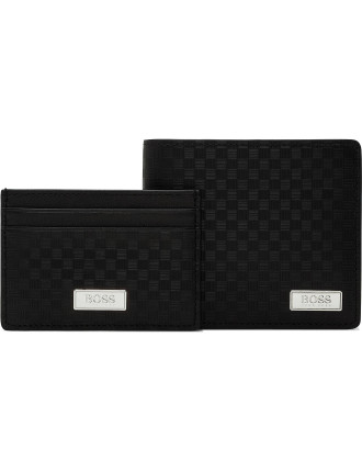 Embossed Leather Wallet Gift Pack