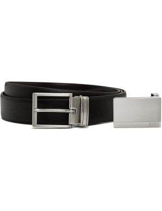 Brushed Two Buckle Belt Gift Pack