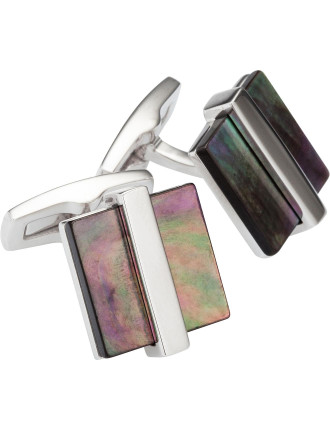 T-Clive Square Mother Of Pearl Cufflink