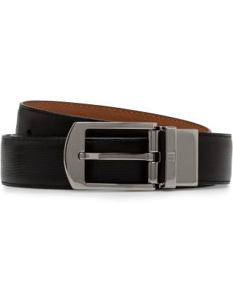 Classic Gunmetal Reversible Belt