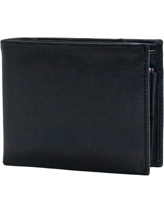 Cut & Sew Section 3 Credit Card Billfold With Coin Pouch