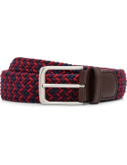 Stretch Belt W/ Leather Tab & Nickle Buckle $39.95