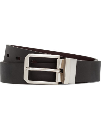 REVERIBLE 34MM PIN BUCKLE W TEXTURE STRAP