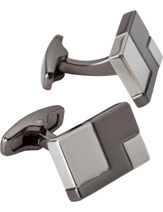 SQUARED BRUSHED/POLISHED CUFFLINKS