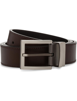 PIN BUCKLE REVERSIBLE BELT