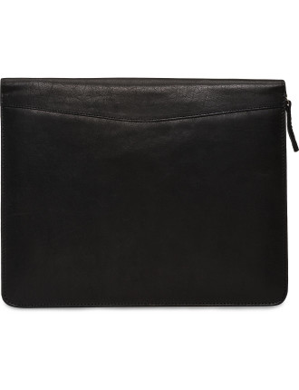 SMOOTH LEATHER ZIP AROUND FOLIO