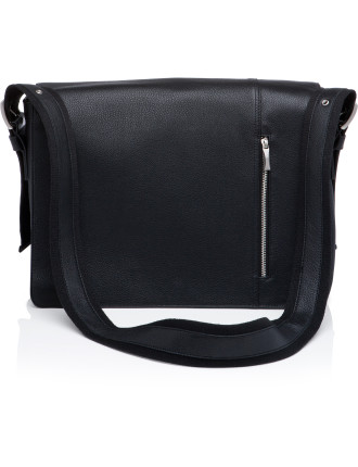 Computer Shoulder Bag with Flap