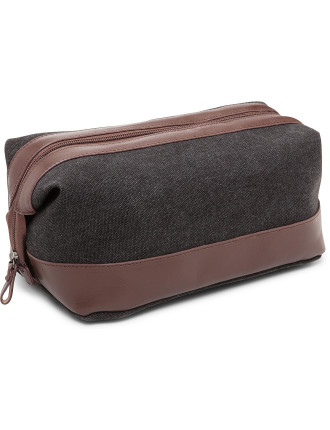 Canvas & Leather Washbag