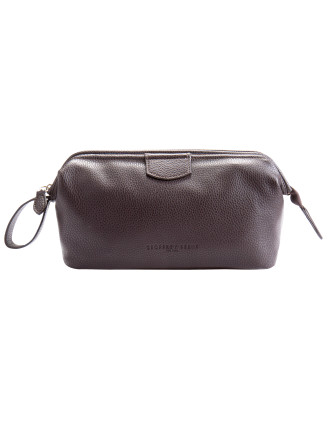 Brown Wire Frame Toiletry Kit W/2 Inner Pocket