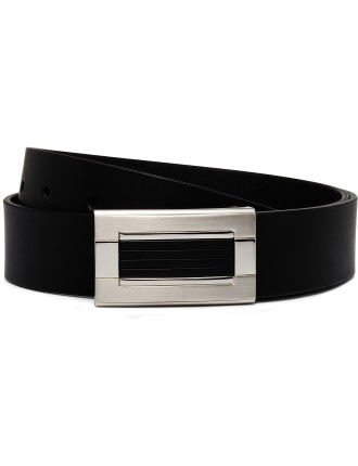 Genuine Buffalo Leather Belt With Feature Plate Buckle