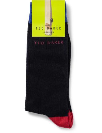 Coloured Heel And Toe Sock