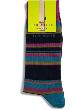 Irregular Stripe Sock
