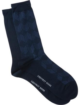 Diamond Crew Socks Pack of Two