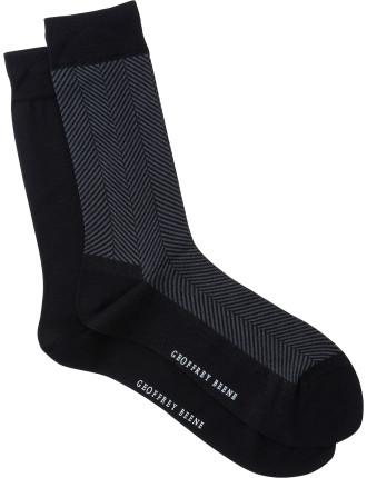 Chevron Crew Socks Pack of Two