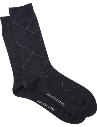 Argyle Crew Socks Pack of Two