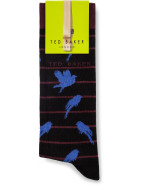 Stripe Sock With Bird $19.95