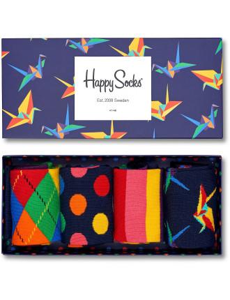 Origami Four Sock Gift Box
