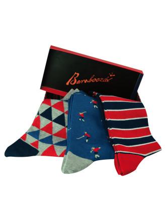 Geometric Sock Gift Box