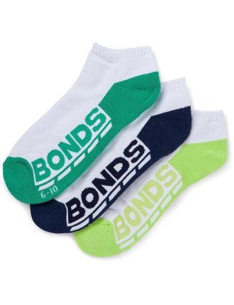 Logo Low Cut 3 Pack Socks