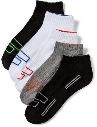 5pk Running Ped Socks