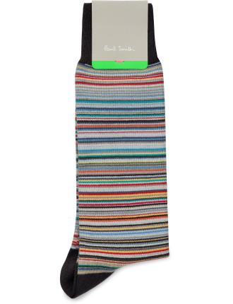 Skinny Multistripe Sock