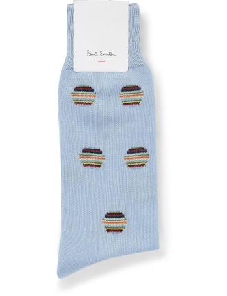 Multi Stripe Polka Sock
