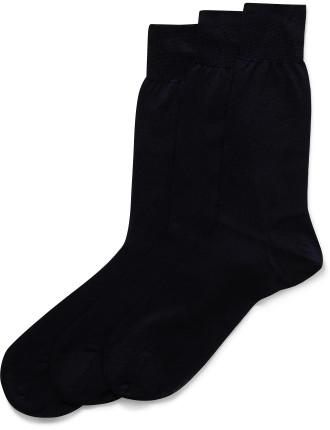 Milana Filo Scozia Plain Sock Pack Of Three