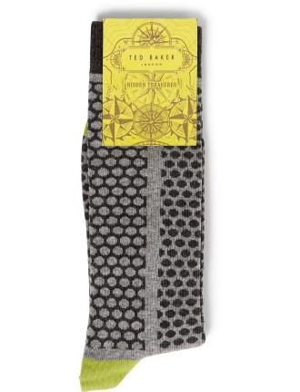 Mixed Scale Spot Organic Sock