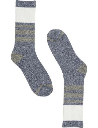 Panel Stripe Sock