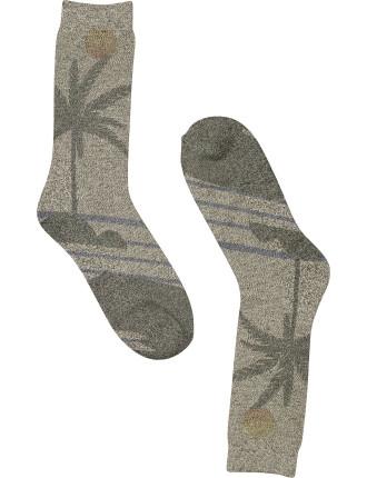 Palm Print Scene Sock