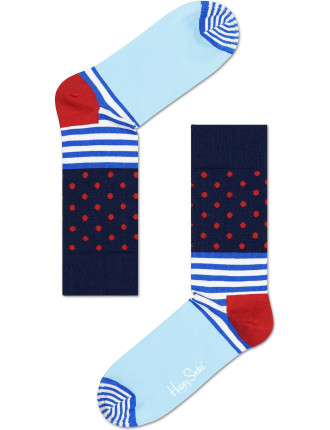 Stripe And Dot Sock