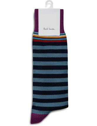 Multi Top Stripe Sock