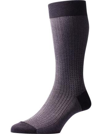 Fabien Herringbone Sock