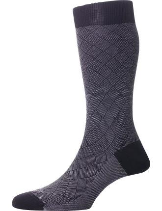 Arlington Diamond Birdseye Sock