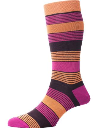Knebworth Fashion Stripe Sock