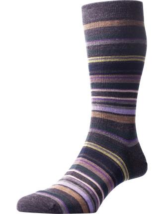 Quakers All Over Stripe Sock