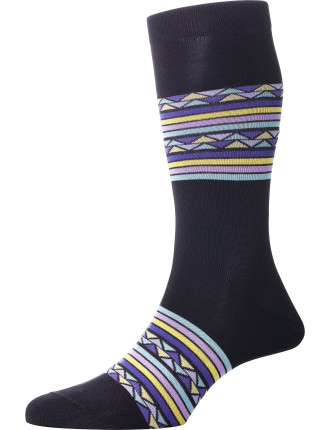 Carnivale Triangle And Stripe Sock