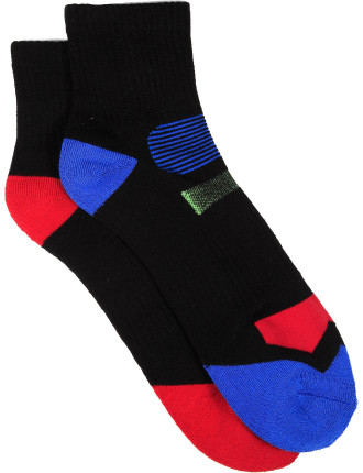 2 Pack Sprint Qtr Crew Bamboo Socks