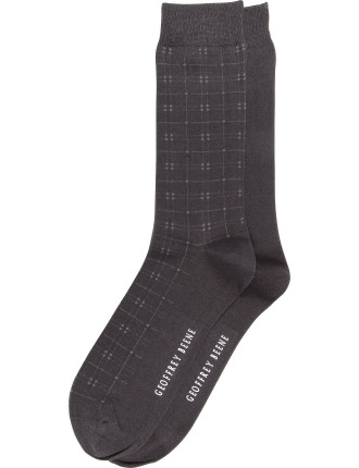 2 Pack Check Business Crew Socks