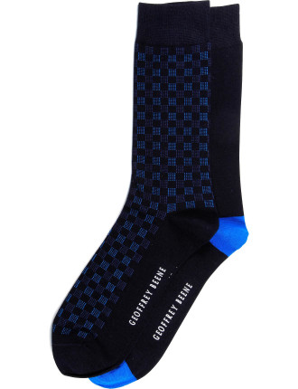 2 Pack Checkerboard Buiness Crew Socks