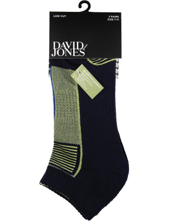 2 Pack Chase Low Cut Socks