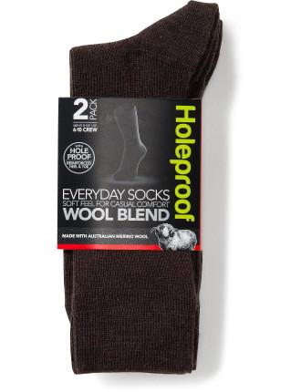 Heores 2prd Wool Blend Socks